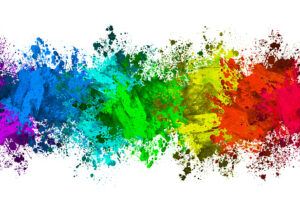 Abstract colorful paint splatter effect
